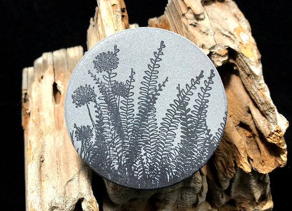 fern and thistle, large pin
