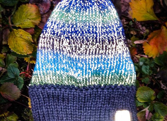 knit reflective hat, oregon coast