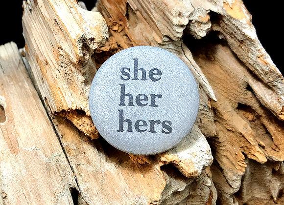 she her hers, greyscale