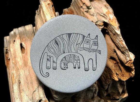 big cat, little cat, large pin