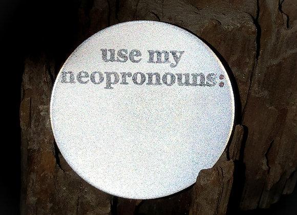 neopronouns, large pin
