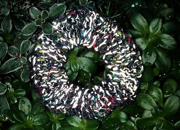 knit reflective scrunchie