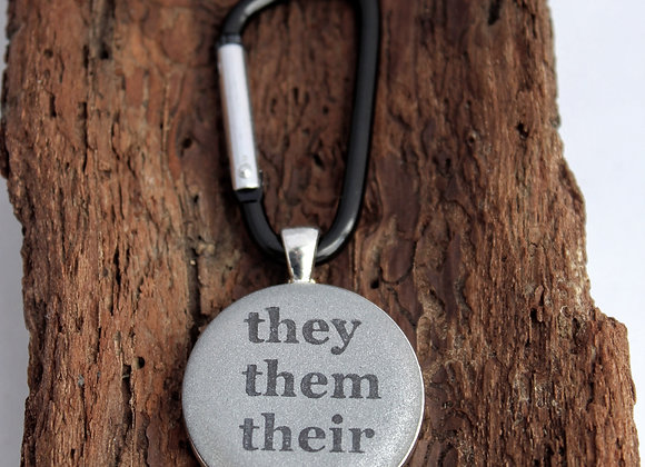 pronouns, keychain