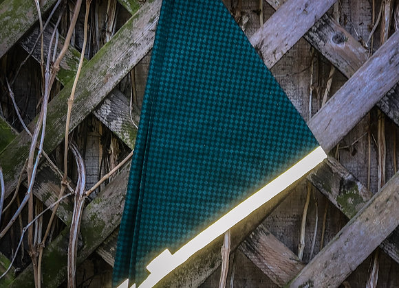 green checked reflective bandana