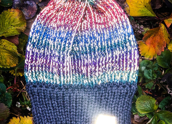 knit reflective hat, dawn