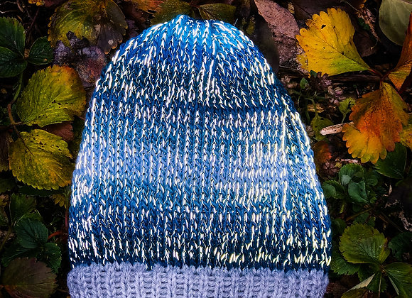 knit reflective hat, mist