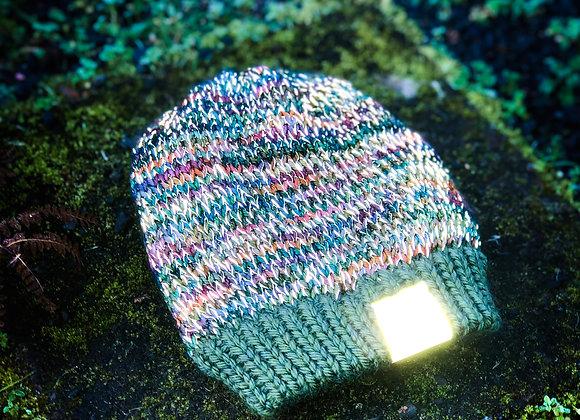 earthtones knit reflective hat
