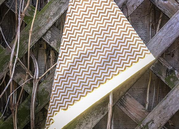 gold chevron reflective bandana