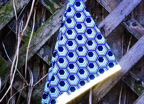 blue hexagon reflective bandanas