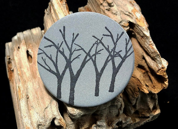 winter trees, large pin