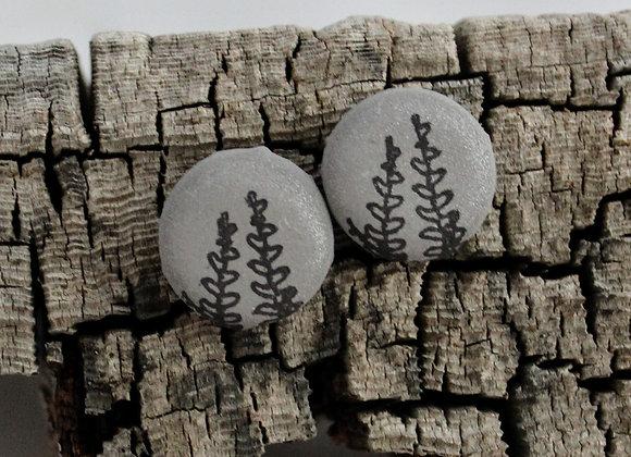 fern stud earrings