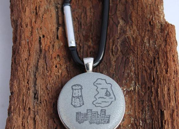 salt lake city, keychain