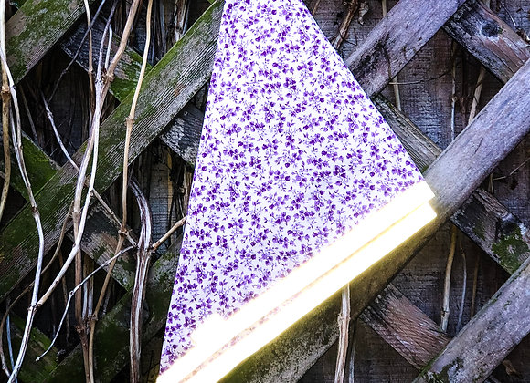 purple floral reflective bandana