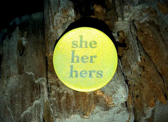 she her hers, jewel tone