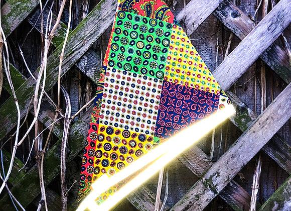 vintage patchwork reflective bandana