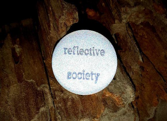 reflective society, small pin