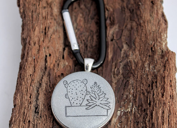 succulents, keychain
