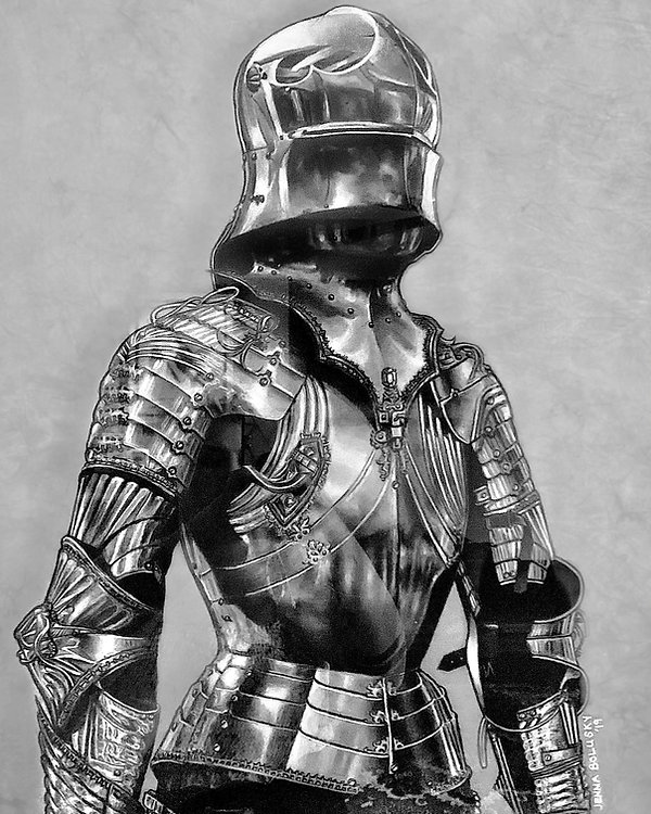 Field Armor of Maximilian I, 24_x18_, Charcoal and chalk pastel pencil, 2021