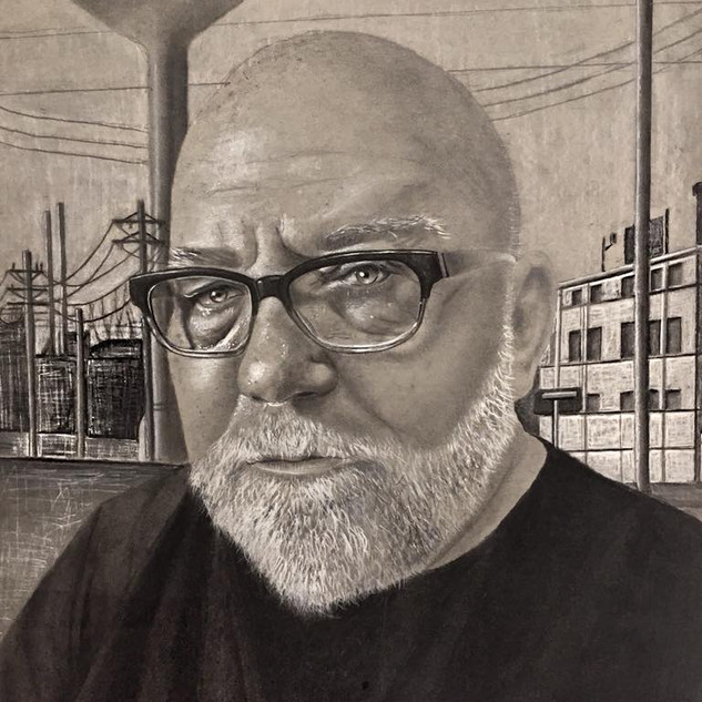 Gary Bolding, charcoal and graphite, 18_