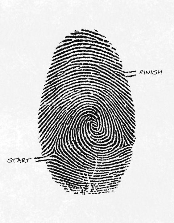 Fingerprint As A Maze Image