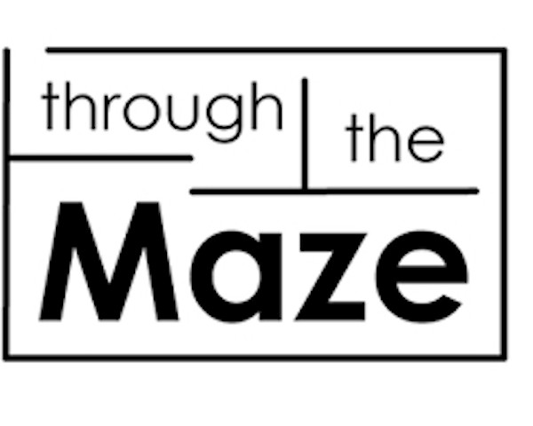 Image Of Text THROUGH THE MAZE Pictured In A Maze