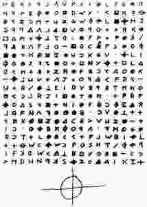 Image Of Code From The Zodiak Killer