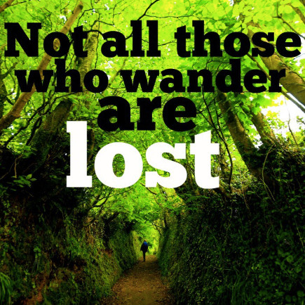 Quote:  Not All Those Who Wander Are Lost