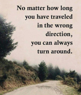 Image Saying You Can Always Change Your Direction