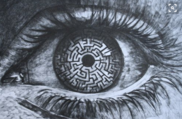 Image Of An Eye With Maze Inside