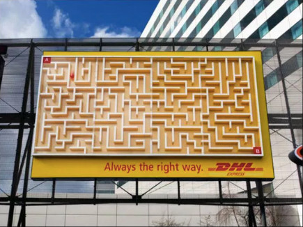Image Of A Maze Showing DHL Delivers The Right Way