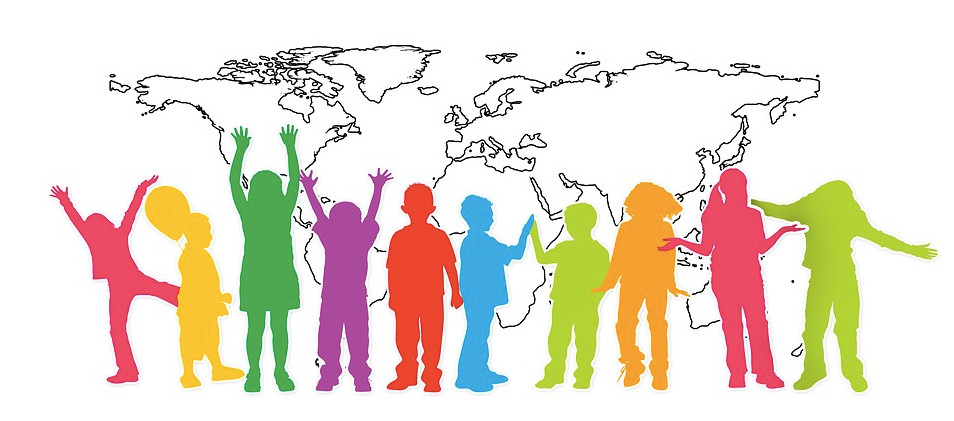 Image Of Children With The World Behind Them