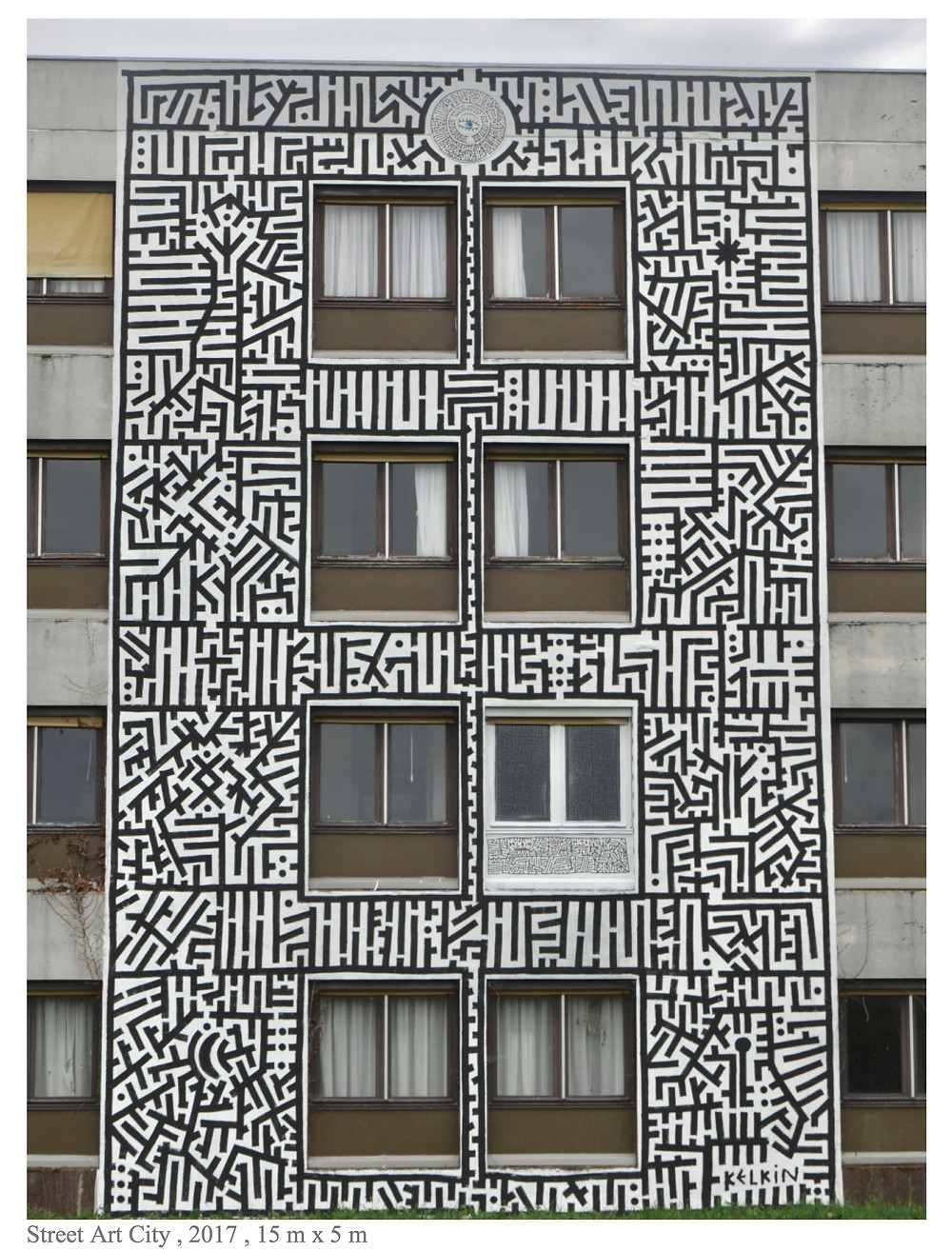 Image Of A Building With MazeArt By KELKIN