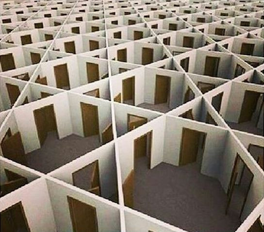 Image Of A Maze Made Only With Doors