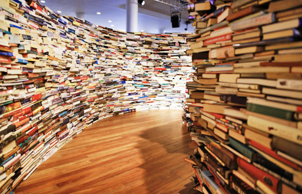 Image Of Maze Made Of Books