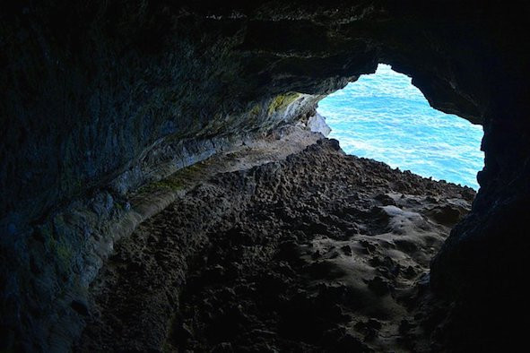 Image Of A Cave At Easter Island