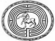 Image Of A Minotaur In A Maze