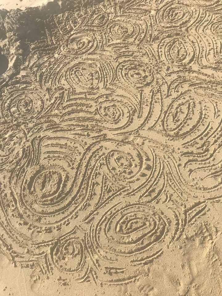 Image Of Lines Drawn In Sand