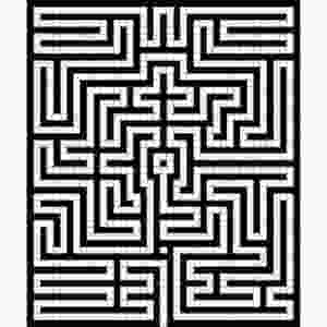 Image Of The Labyrinth Design On The Floor Of The Town Hall In Gent, Belgium
