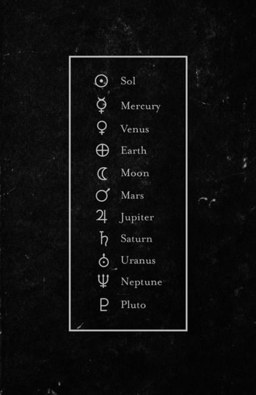 Image Of The Symbols For The Planets In Our Solar System