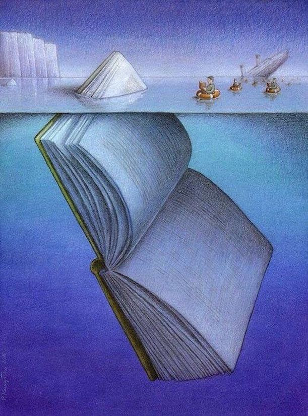 Image Of A Book Sinking A Ship