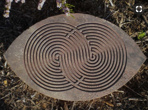 Image Of Stone With Intertwining Labyrinths