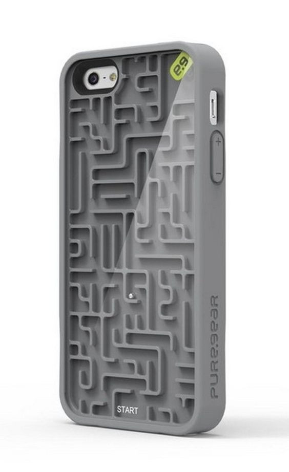 Image Of Cell Phone Case With Marble Maze In The Back
