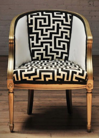 Image Of A Chair With A Maze Design