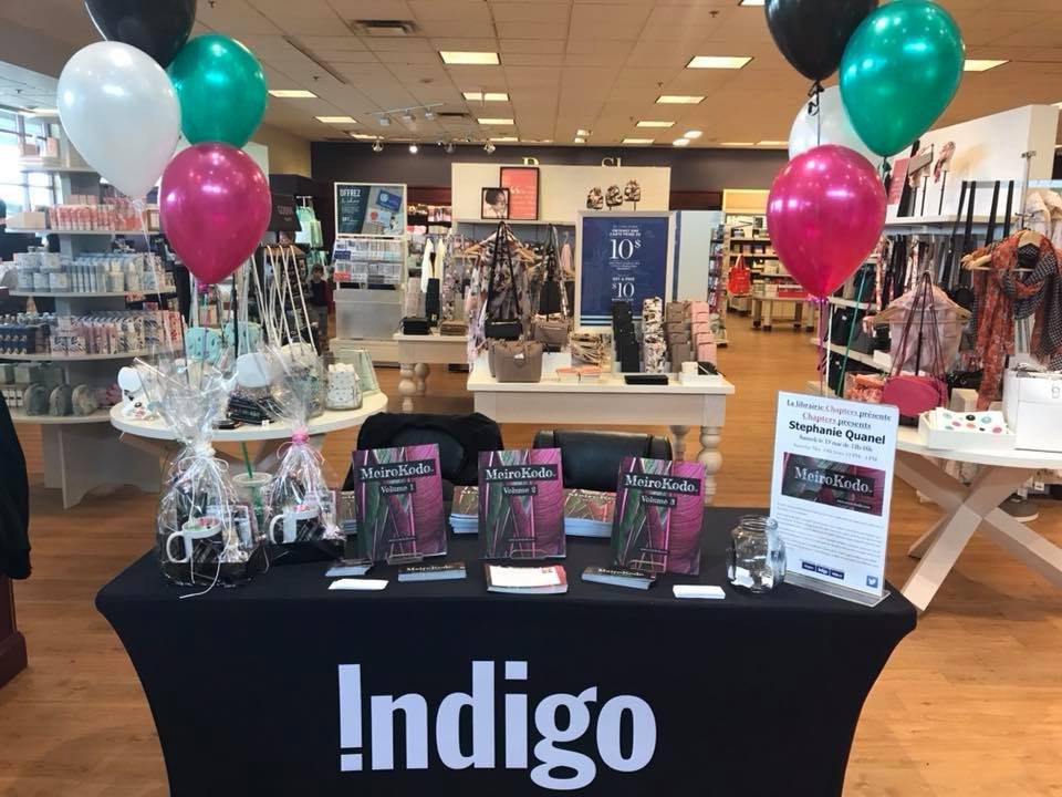 Image Of The MeiroKodo Author Table At Chapters West Island Montreal 19 May 2018