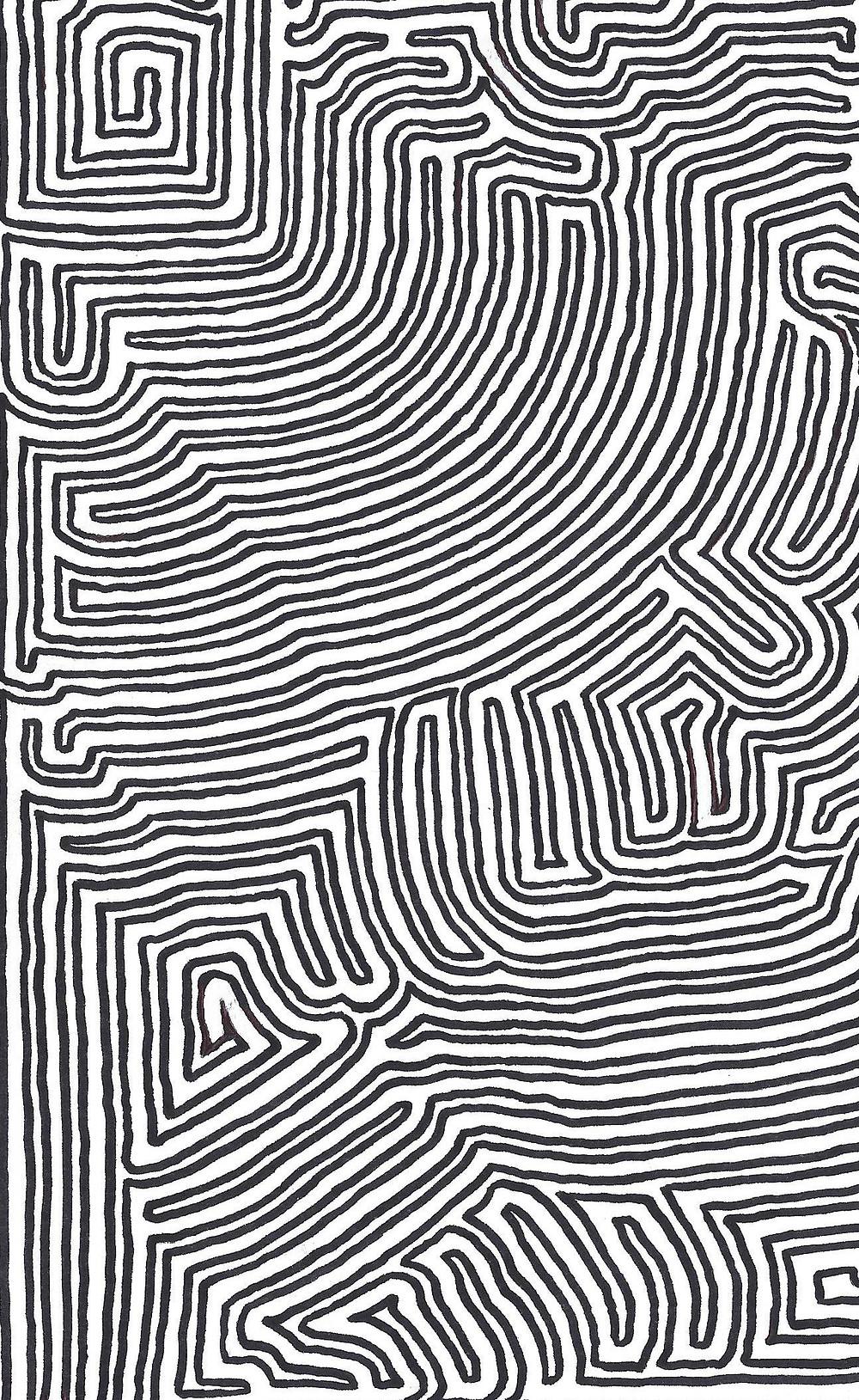 Section Of A MeiroKodo Maze Image (Volume I)