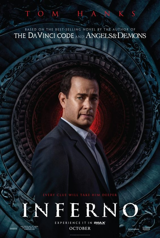 Inferno Movie Cover starring Tom Hanks