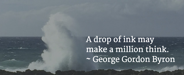 Image Of A Drop Of Ink Quote