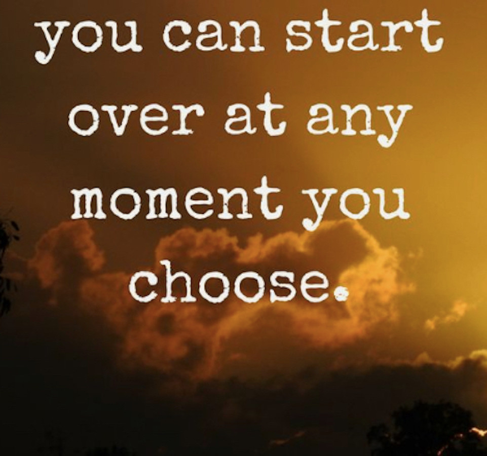 Image Of A Quote About Starting Over