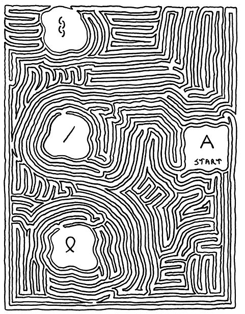 Sample Of A MeiroKodo Maze Starting With The Letter A