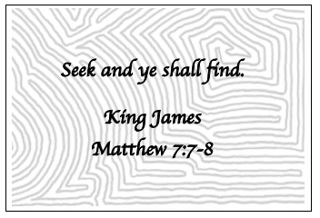Image Of Maze Background With Bible Quote Seek And Ye Shall Find